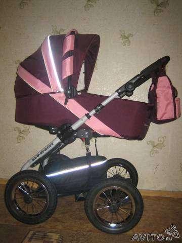 Детская коляска 2 в 1, стульчик для кормления