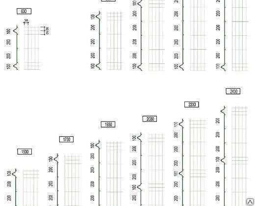 Еврозабор (3Д забор) 2030х2500х4 мм Цинк
