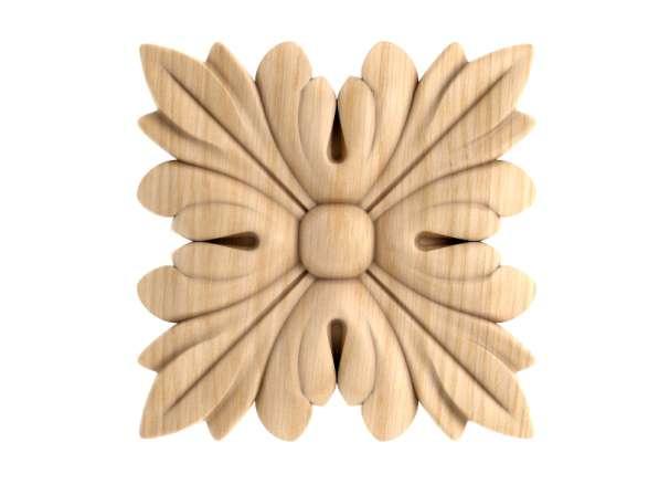 Розетка резная из массива дерева (60*60*13)