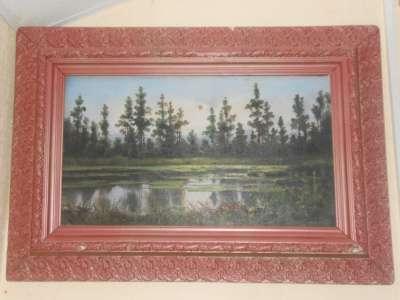 Старинная картина 19 век