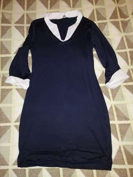 Отдам даром платье стрейч р. 42-44 цвет темно-синий