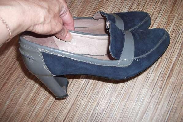 Туфли осенние натуральная замша -лак, не дорого