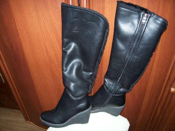 Сапоги зимние черные, размер 37