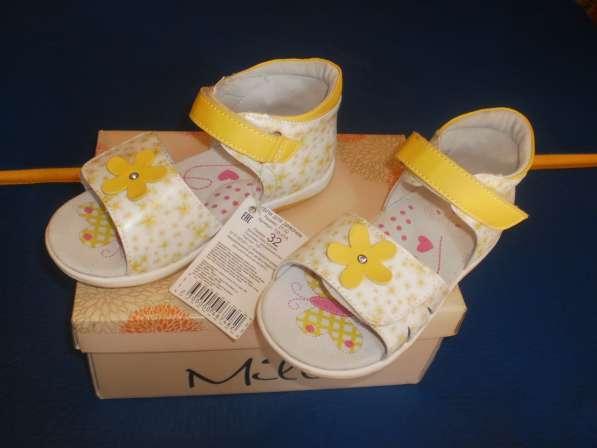 Новые анатомические сандалии для девочки 32 размера