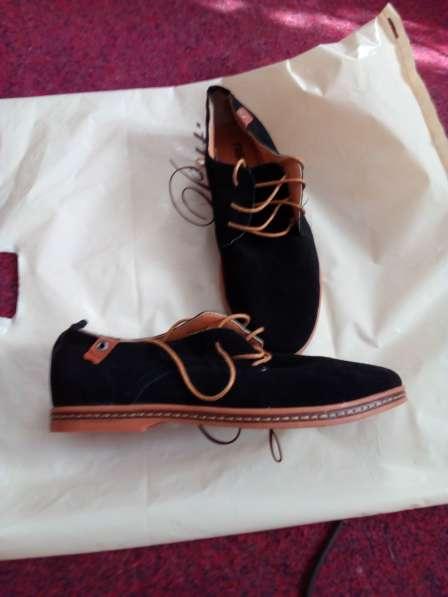 Туфли замшевые, черного цвета, новые, размер 41 в Новосибирске