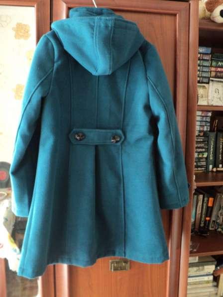 Осеннее пальто, туманно-голубое
