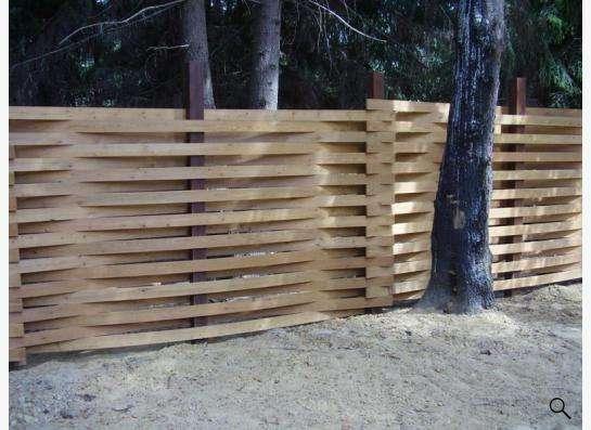 Деревянный забор в Новосибирске