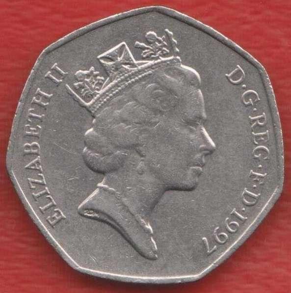 Великобритания Англия 50 пенни 1997 г. Елизавета II в Орле