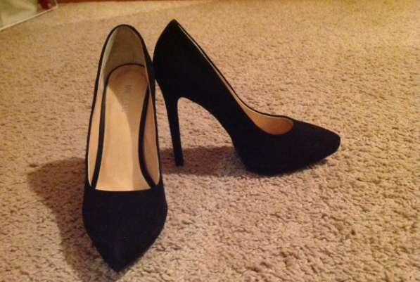 Туфли замша чёрные размер 36