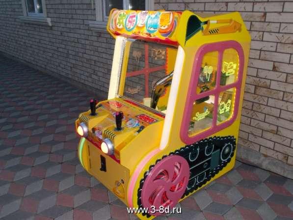 Аттракцион, детский игровой автомат Экскаватор