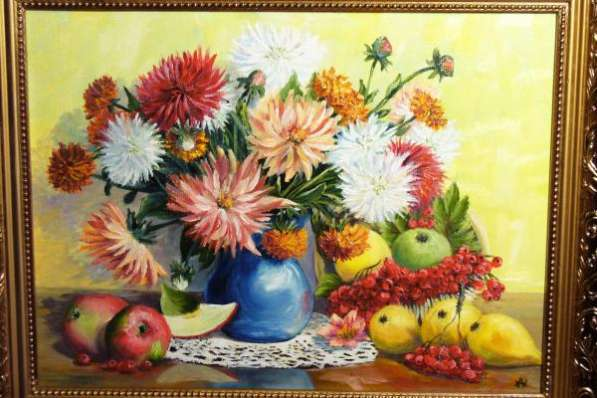 Картины с пышными цветами для подарка