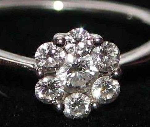Кольцо с бриллиантами 0.52 ct