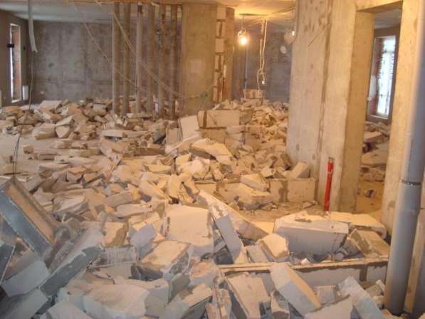 Демонтаж стен, перегородок, построек, зданий