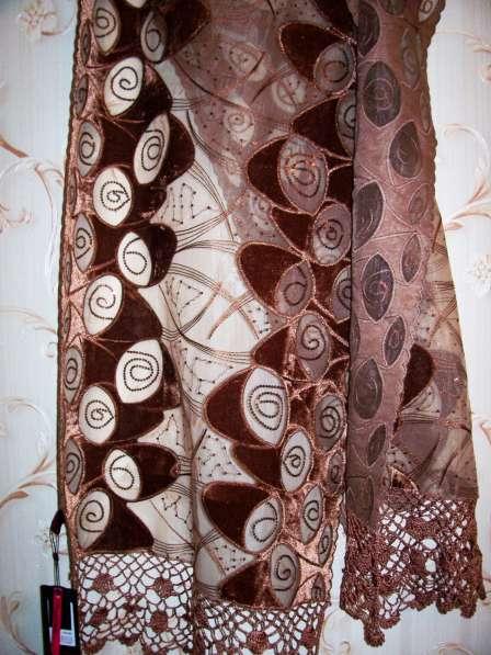 Шарф, коричневого цвета