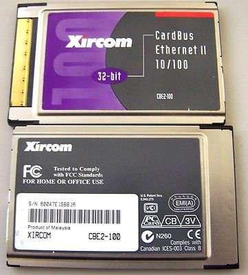 Сетевая карта Xircom 10/100 для ноутбука