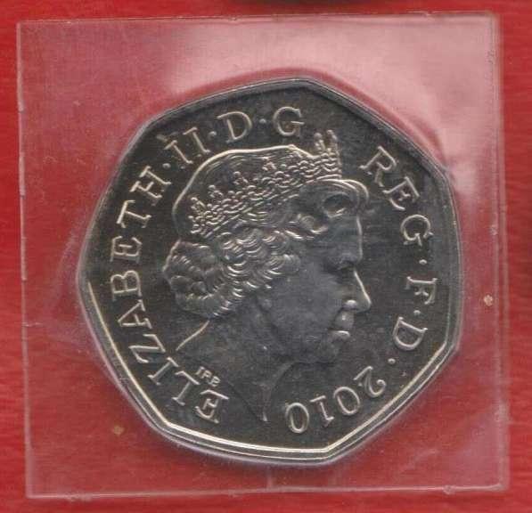 Великобритания Англия 50 пенсов 2010 100 лет девочки скауты в Орле