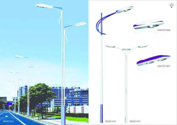 Опоры освещения, фонари, и столбики, для парков, скверов