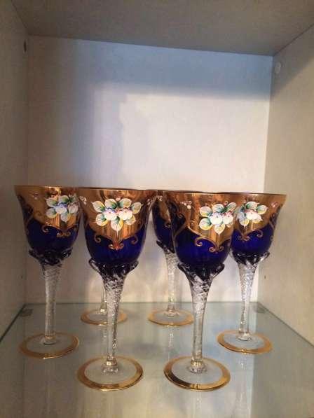 Продаю богемскую посуду из чешского стекла