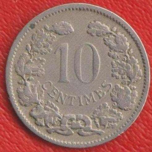 Люксембург 10 сантимов 1901 г