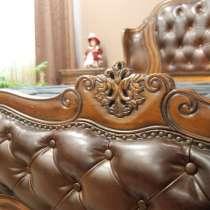 Кровать деревянная с 2 тумбами, в Новосибирске