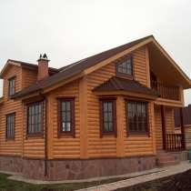 Дом из бревна, в Москве