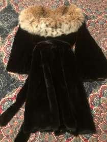 Норковая шуба с капюшоном из рыси, в Москве