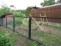 Секции заборные с сеткой рабицей, в г.Пушкино