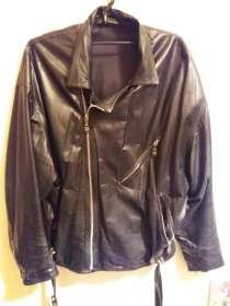 Кожаная куртка Versace (черная), в Москве
