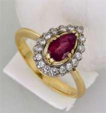 Золотое кольцо с бриллиантами и рубином, новое, в Санкт-Петербурге