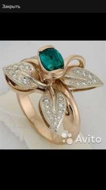 Золотое кольцо с бриллиантами и топазом, новое, в Санкт-Петербурге
