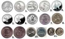 Набор монет США (11 монет), в Санкт-Петербурге