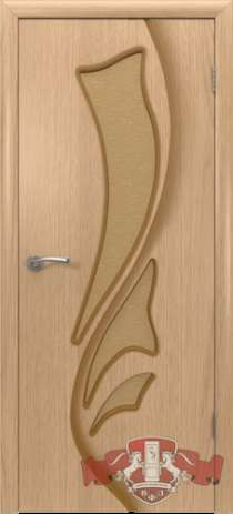 Дверь шпон светлый дуб, остекленная, 800 мм, в Бийске