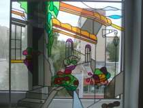 Витражи на стекле и зеркалах, в Ижевске