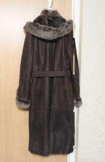 Женская зимняя дубленка с капюшоном, в Москве
