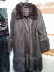 Свингер-короткий плащ из кожи с отделкой мехом норки, в Барнауле
