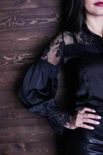 Черная кружевная блузка, в Новосибирске