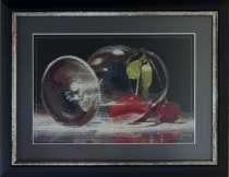 Картина «Опрокинутая сладость»,ручная работа, вышивка, в г.Минск