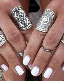 """Набор колец """"Этно"""". Тибетския резьба. Античное серебро, в Красноярске"""