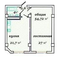 Новая Однокомнатная квартира, в г.Актау
