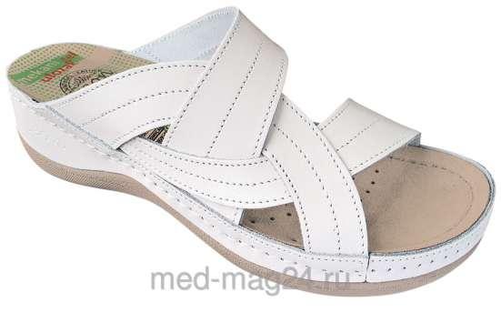 Босоножки-сабо женские LEON 910 (Сербия),белые