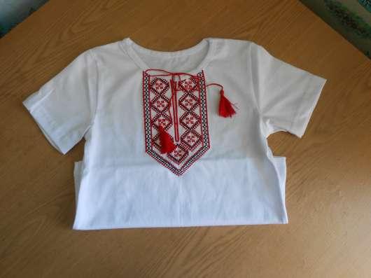 Вышиванка для мальчика с коротким рукавом, футболка с вышив