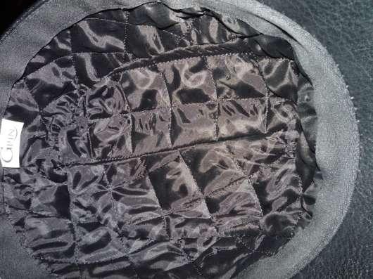 Кожаная утепленная кепка Grin