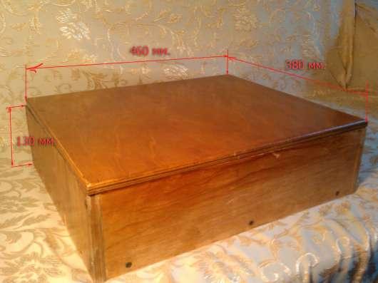 Ящик фанерный лакированный с крышкой б/ у