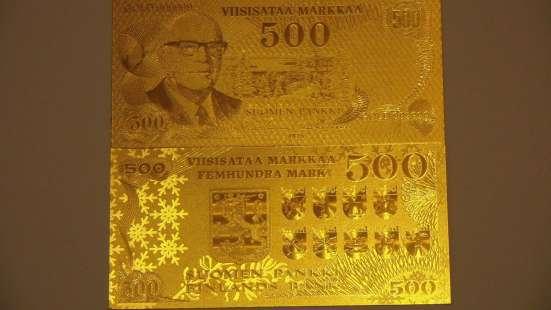 Коллекция золотых банкнот 24 к 20 штук + сертификат в Артемовский Фото 2