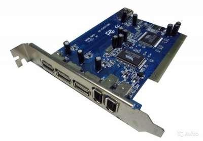 PCI контроллер USB + FireWire (VIA Combo