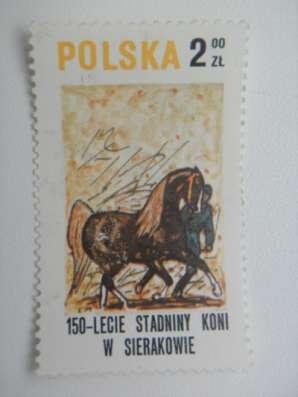 Марка 2zt Польша Polska Кони