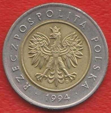 Польша 5 злотых 1994 г в Орле Фото 1