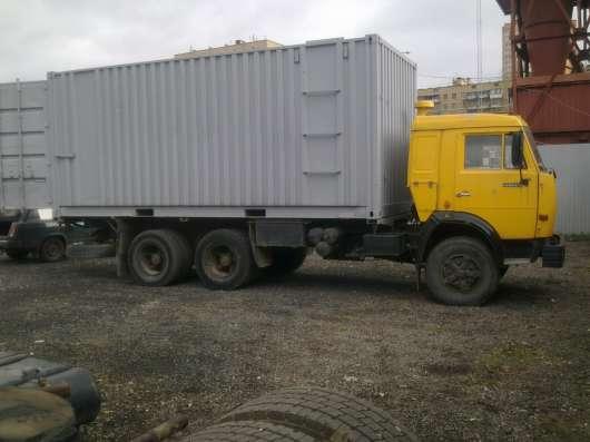 КАМАЗ кабина жолтого цвета кузов контейнер в Москве Фото 1