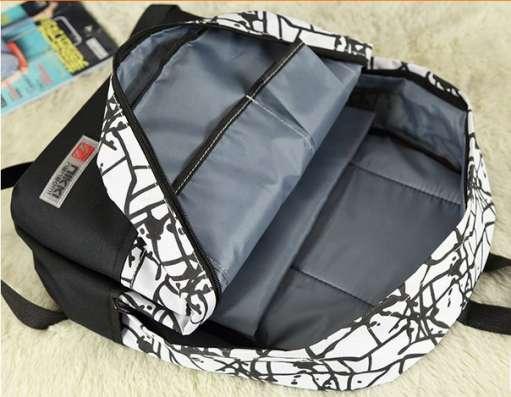 Рюкзак белый черный граффити в г. Запорожье Фото 3