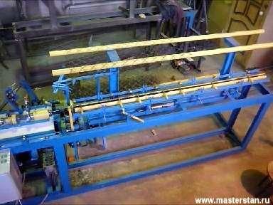 Станок автомат для изготовления рабицы с электронным изменением скорости. Курган